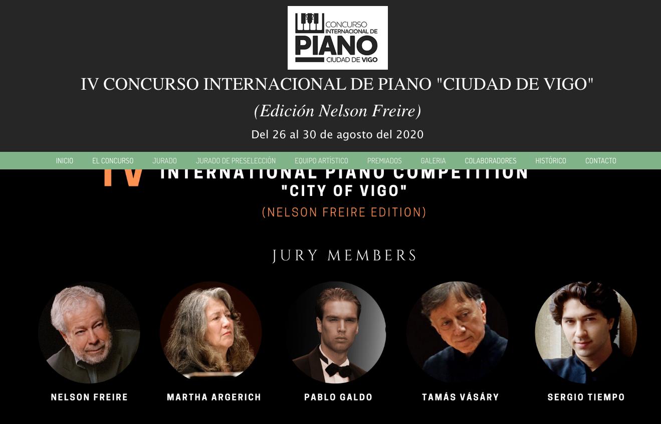 "«IV Concurso Internacional de Piano ""Ciudad de Vigo"" - Edición Nelson Freire»"